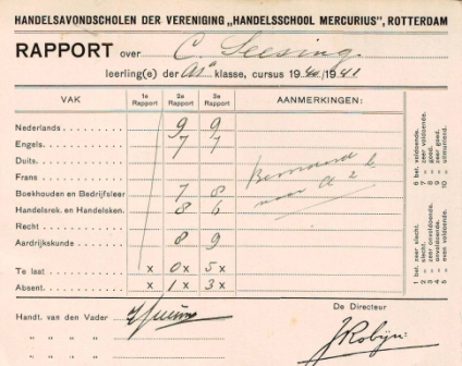 1922 Cor Seesing rapport 40 41